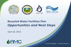 Recycled Water Joint Meeting - Mon 4/18/16 @ 5:30 p.m. City Hall