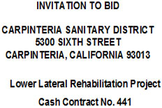 Invitation to Bid - Lower Lateral Rehabilitation Project
